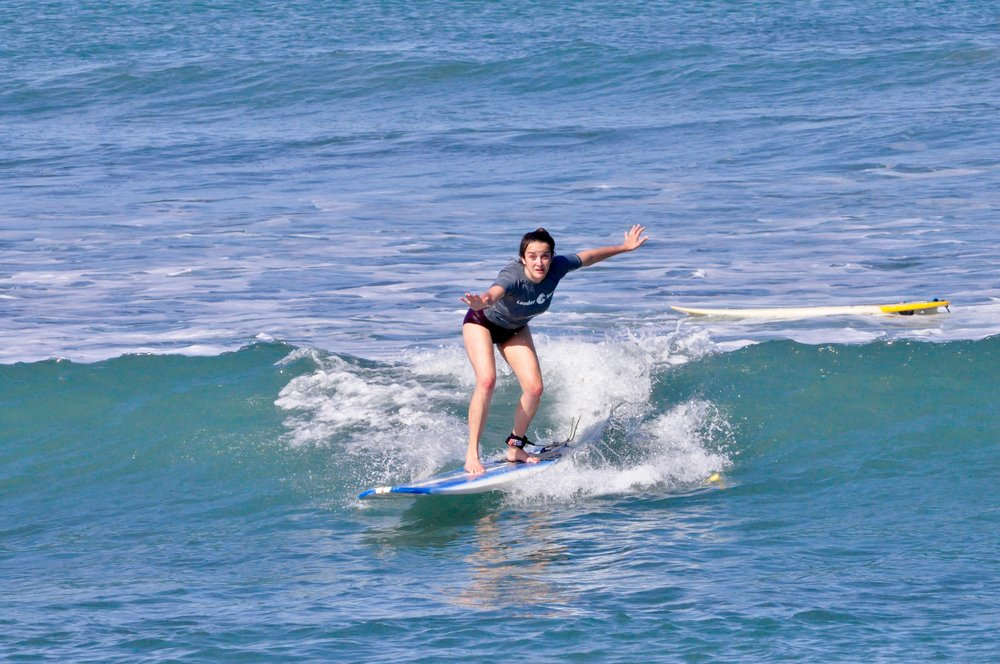 Lisa Surfing