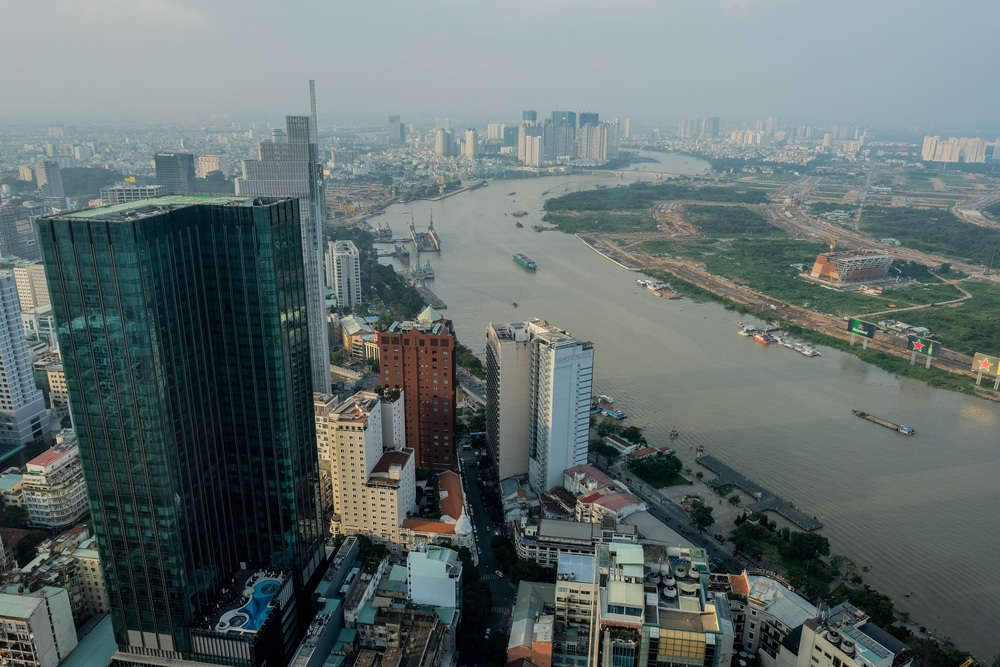 The northeastern side part of District 1, Central Saigon.