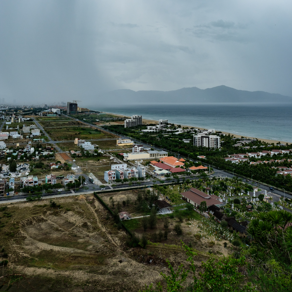 Danang and what the US soldiers called China Beach - the 30 km beach stretching from Danang to Hoi An - can be seen from the mountain. The Vietcong had a base and field hospital in the caves in these mountains, with great views of the Americans and their R&R activities.