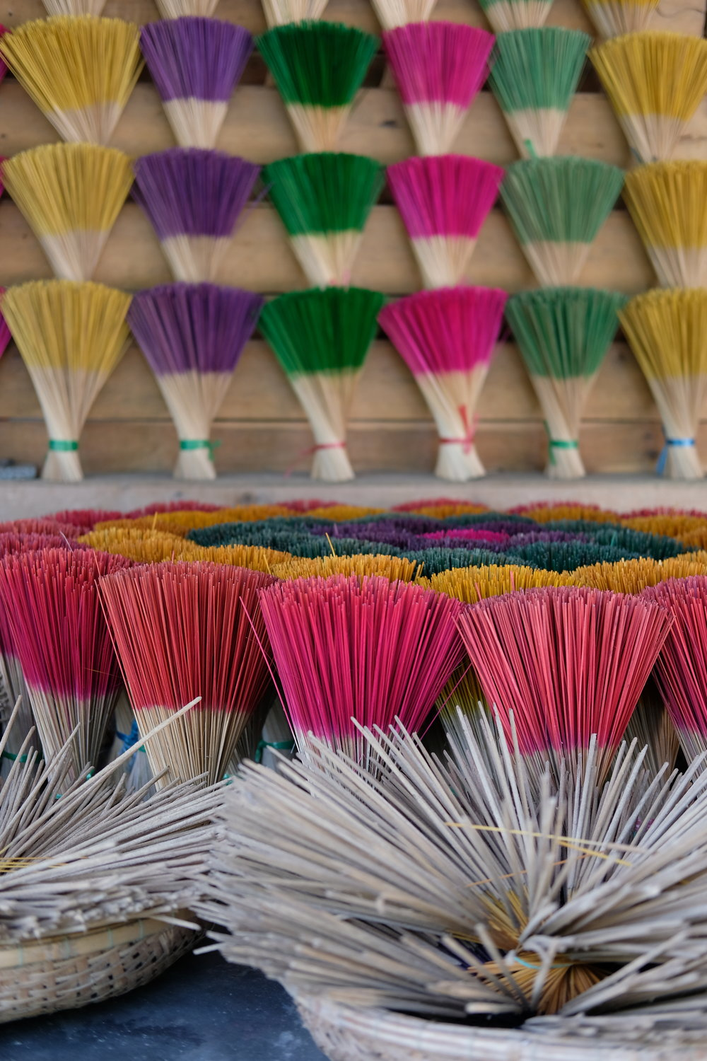 Just before Bunker Hill there is an area where they make fragrant and colorful incense.