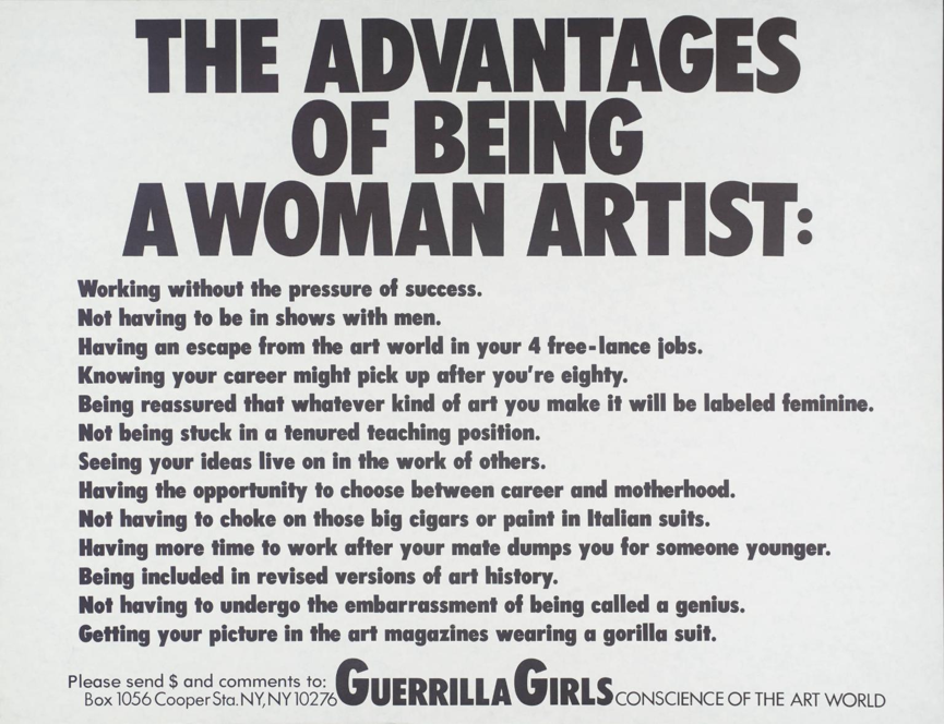 The Advantages of Being a Woman Artist , 1988