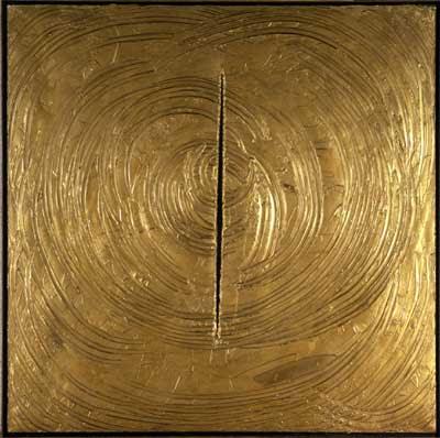 Lucio Fontana, Concetto spaziale, Venezia era tutto d'oro (Spatial concept, Venice was all gold) , 1961