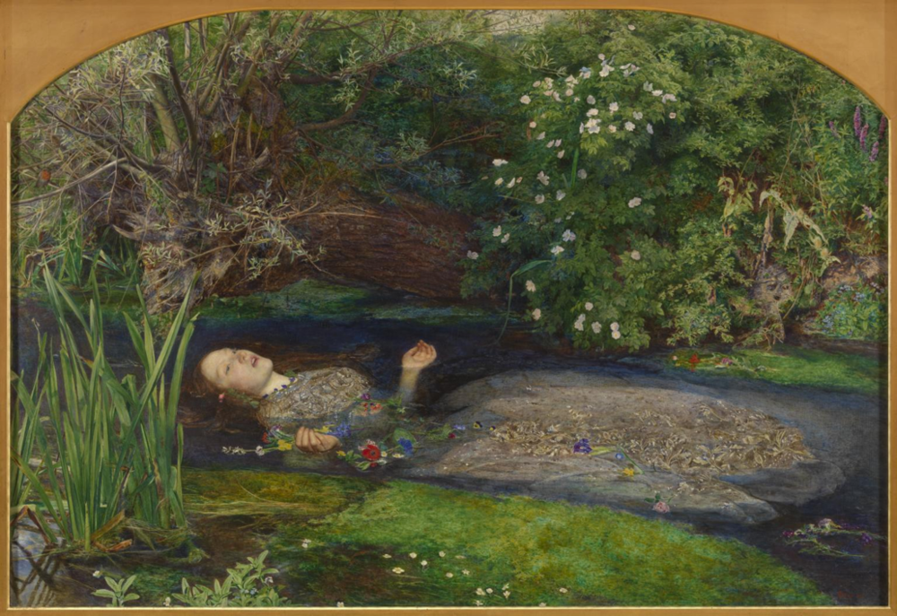 Sir John Everett Millais  Ophelia    Painted between 1951 and 1952. Tate Britain, London