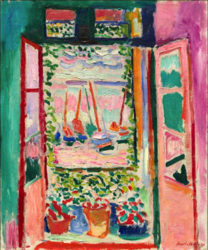 Henri Matisse, Open Window, Collioure , 1905  National Gallery of Art, Washington D.C.