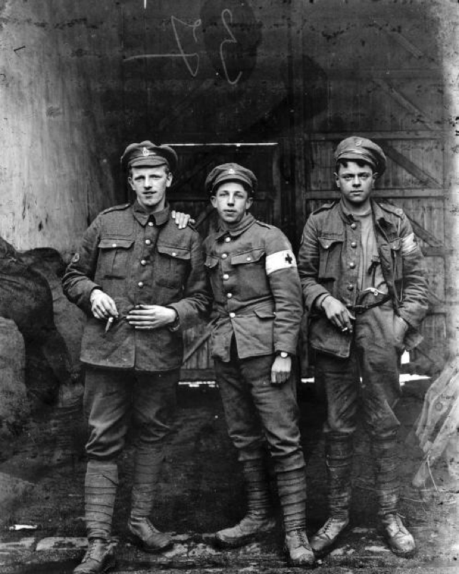 Three Men from the Royal Army Medical Corps   From The Louis and Antoinette Thuiller Collection