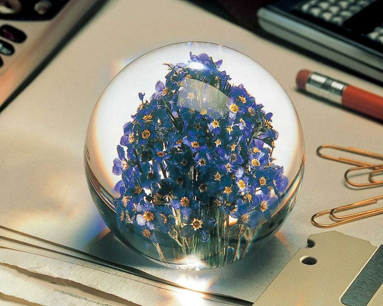 Alexandra's shopping picks: beautiful paperweights with flowers inside from Mouki Mou, London