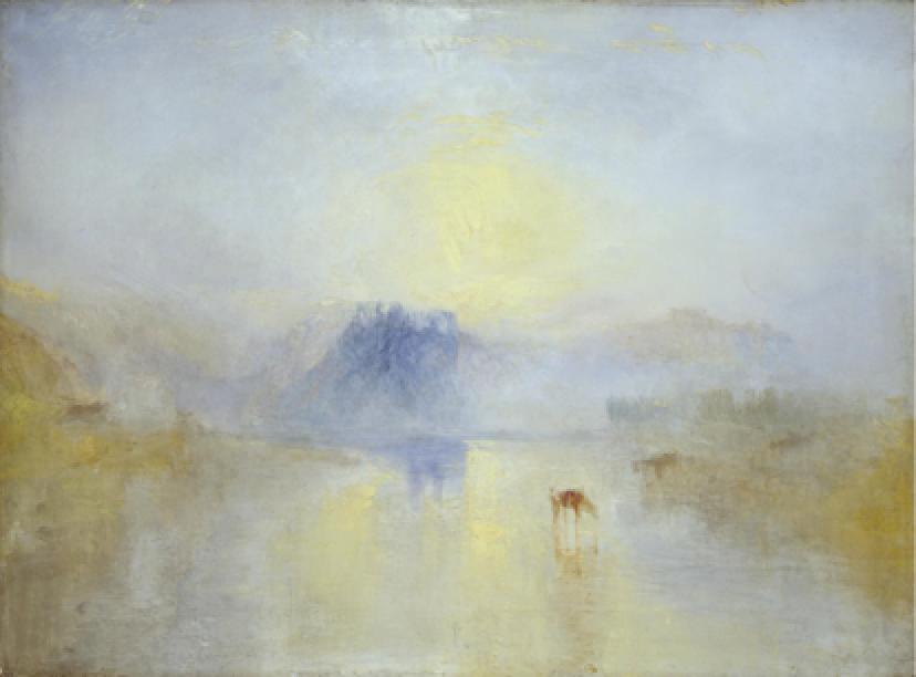 J.M.W. Turner, Norham Castle, Sunrise , c. 1845. Tate Britain
