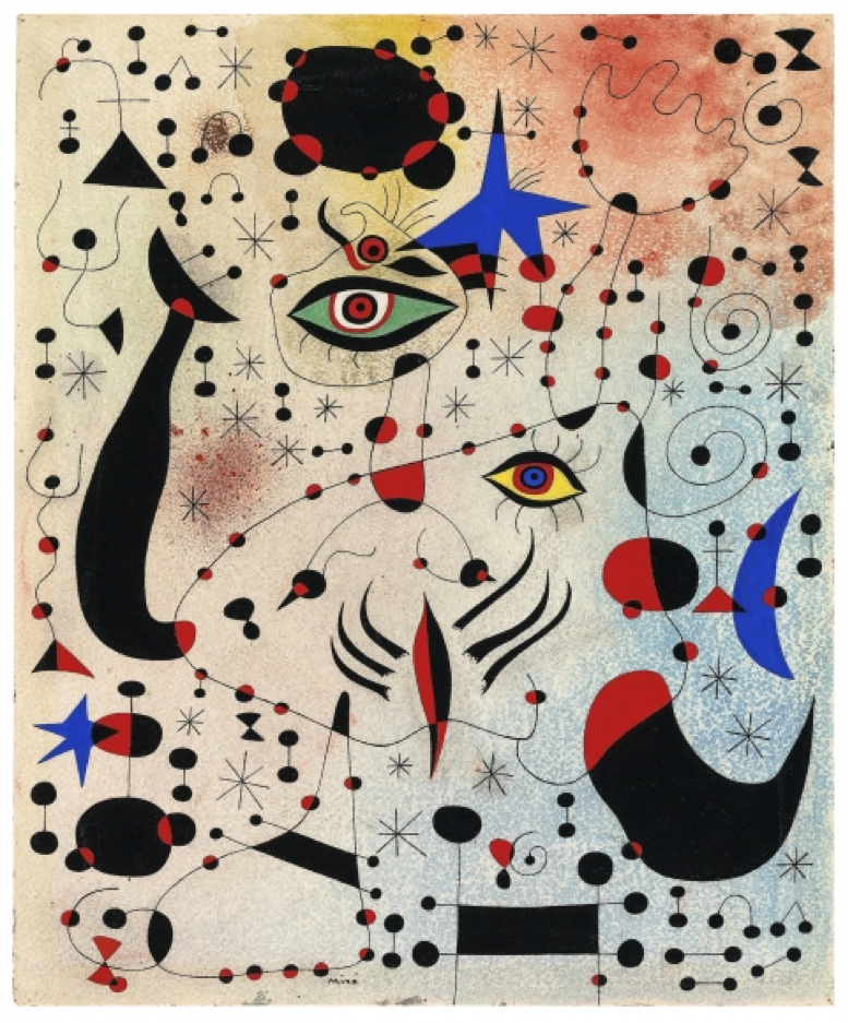 Joan Miró,  Chiffres et constellations amoureux d'une femme (Ciphers and Constellations in Love with a Woman) , 1941. The Art Institute of Chicago, Chicago.