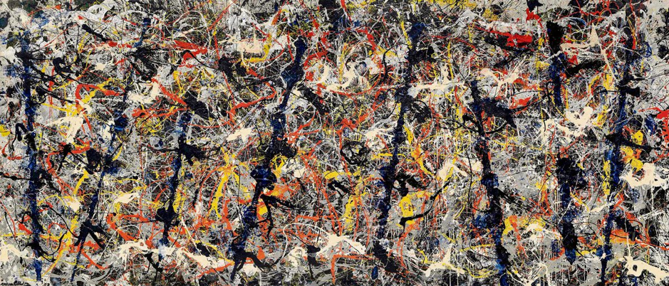 Jackson Pollock,  Blue Poles [Number 11, 1952] , 1952. National Gallery of Australia, Canberra.
