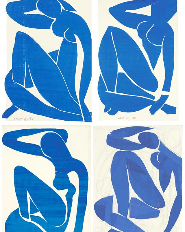 We just love these #blue #Matisse cut outs 💙💙💙💙#theirisletter