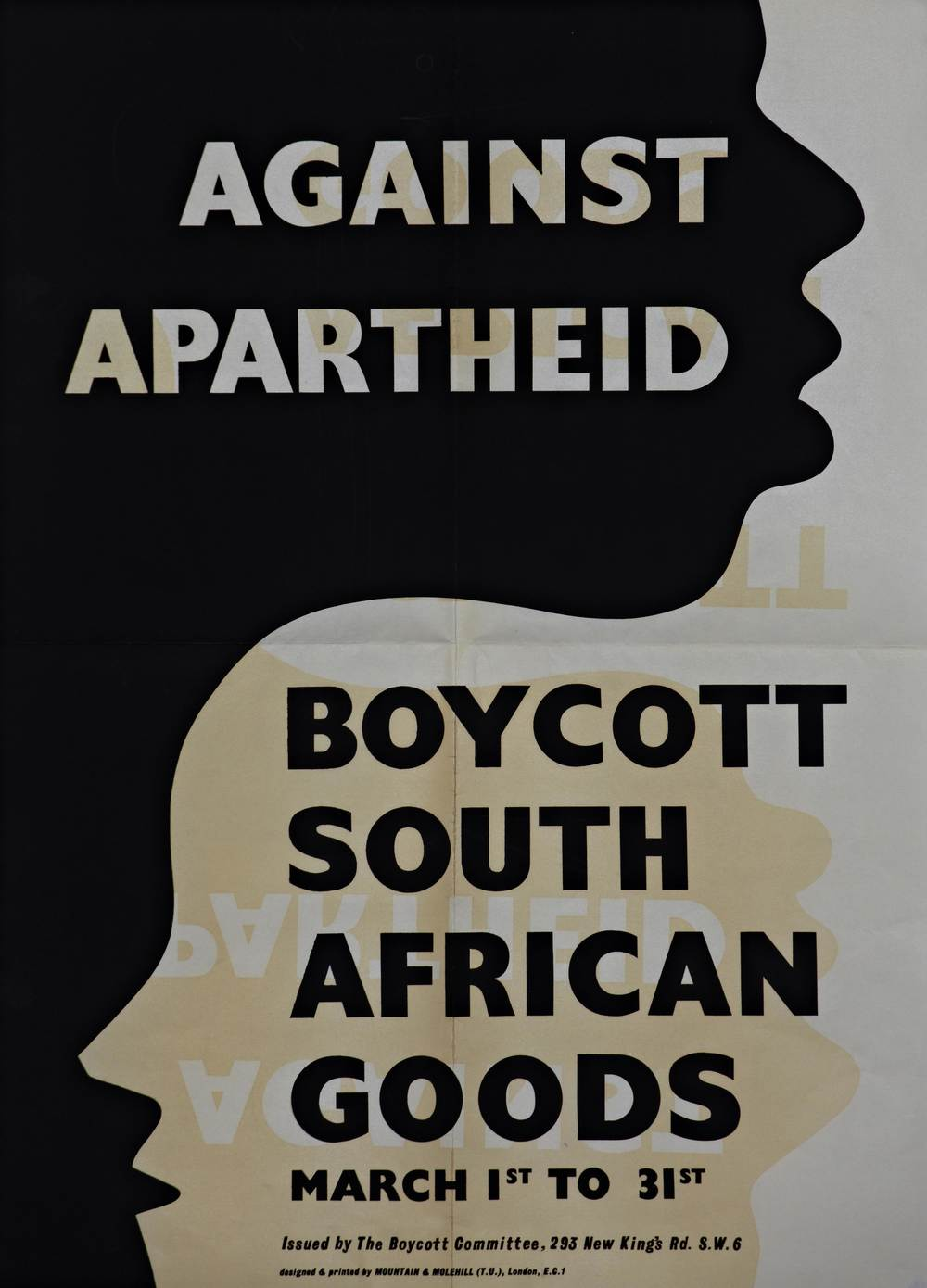 Boycott South African Goods Poster