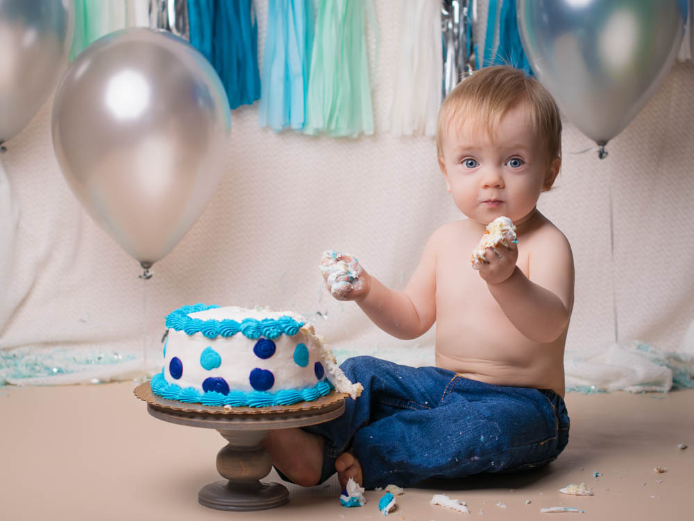 Boy Smash Cake