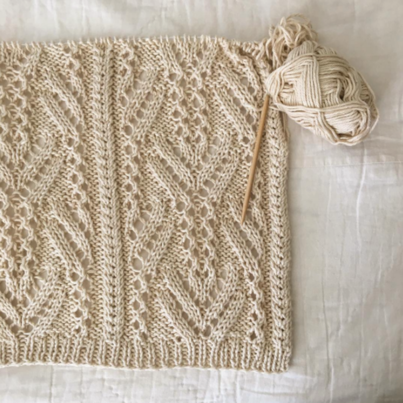 brooklyntweed knit lace wrap