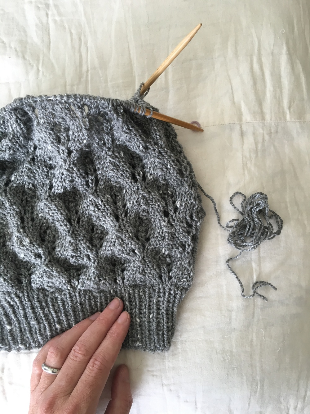 lace knit hat