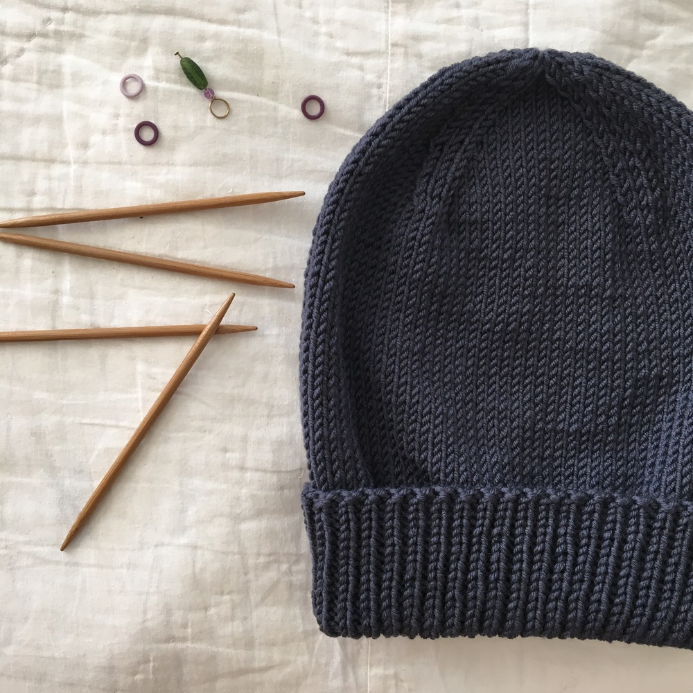 Purl Bee's Classic Cuffed Hat Pattern-free pattern