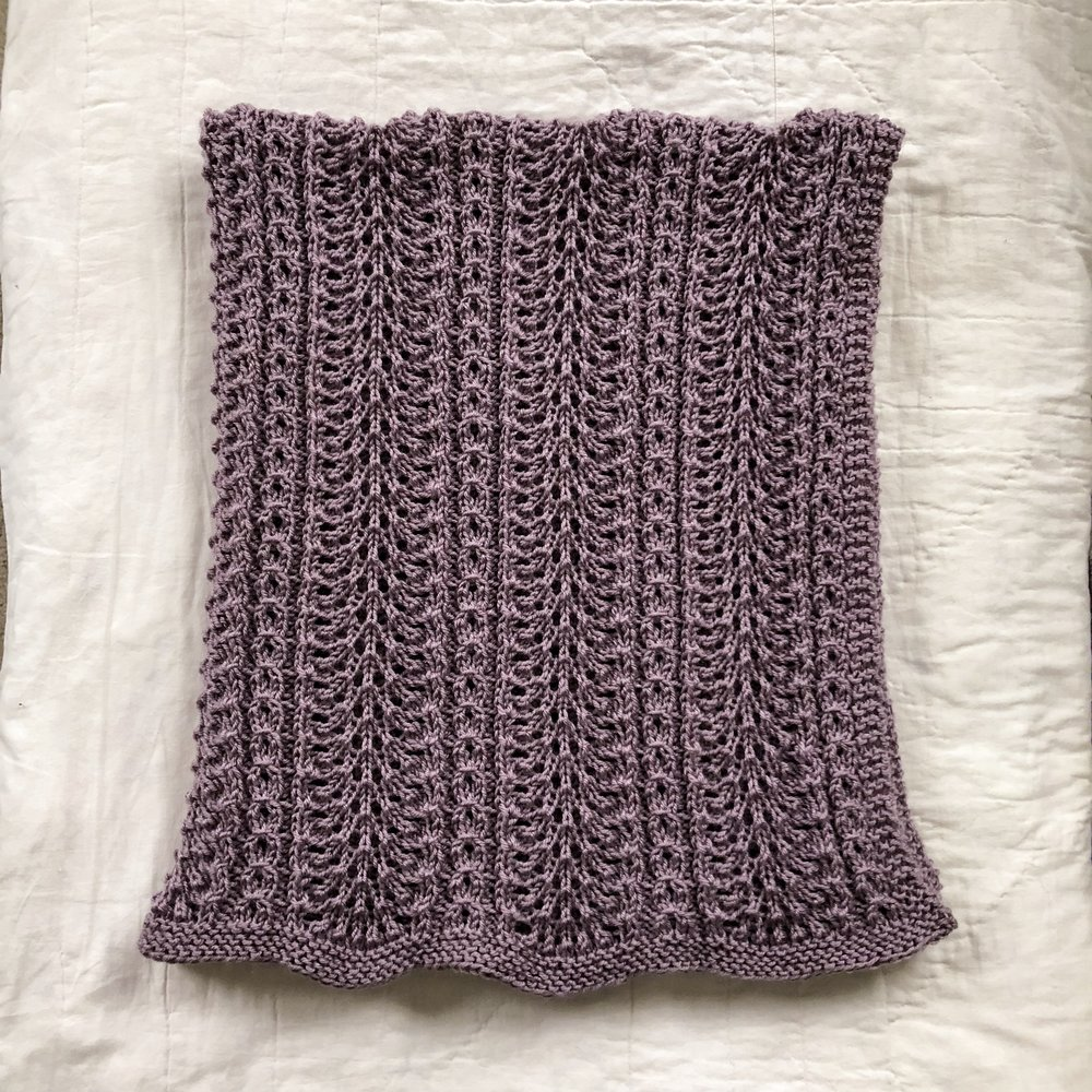Shale Baby Blanket by Brooklyn Tweed