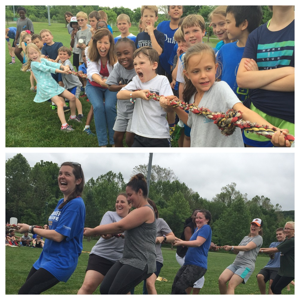 Kindergarten vs. Cambridge Teachers Tug Of War