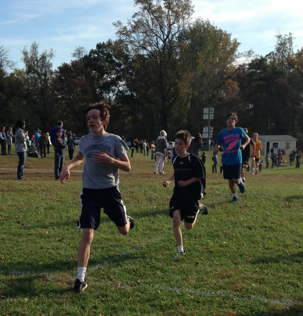 Caden Dubois, grade 7, places 6th out of 215 runners in a Fall 2017 Cross Country Meet.