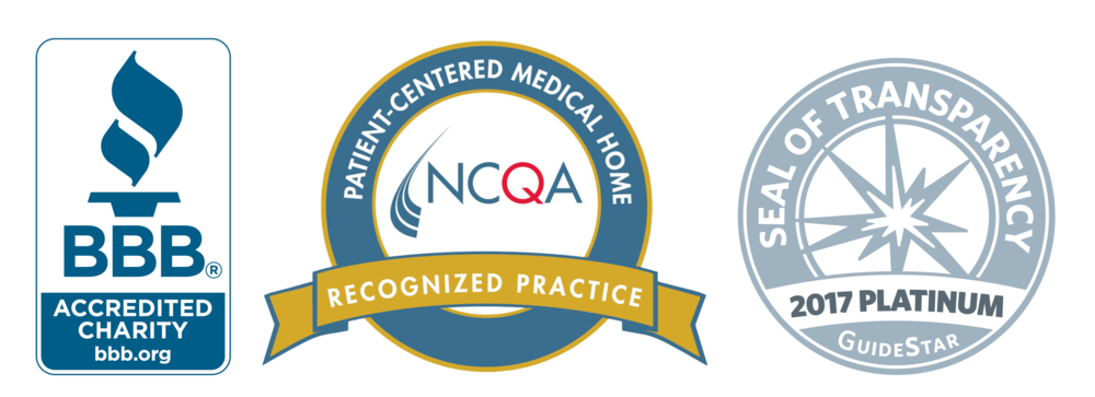 GraceMed is BBB accredited, an NCQA recognized practice, and platinum Guidestar certified.