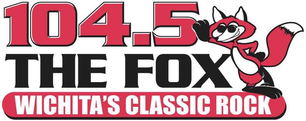 104.5 the fox logo