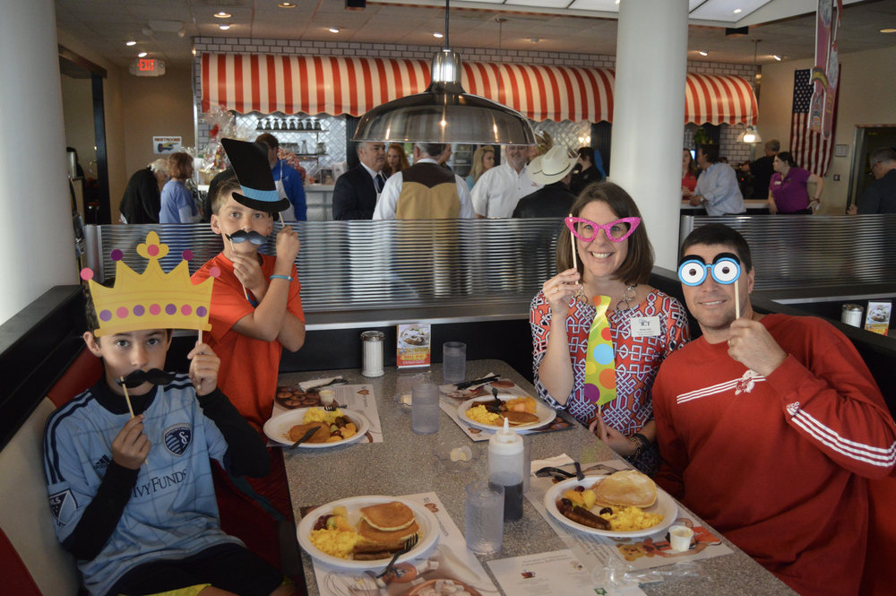 Shelley Rich, Project Coordinator with Health ICT,and her family at the first annual Hotcakes for Hopecare.