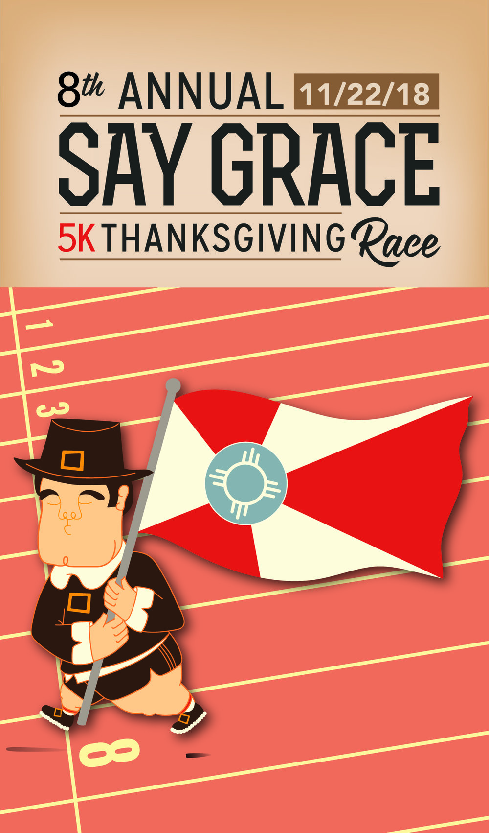 The Say Grace Race is GraceMed's signature fundraising event and is also Wichita's largest, local 5K. - The annual family-friendly event takes place on Thanksgiving morning at 9:30AM and is becoming a tradition for many in our community.