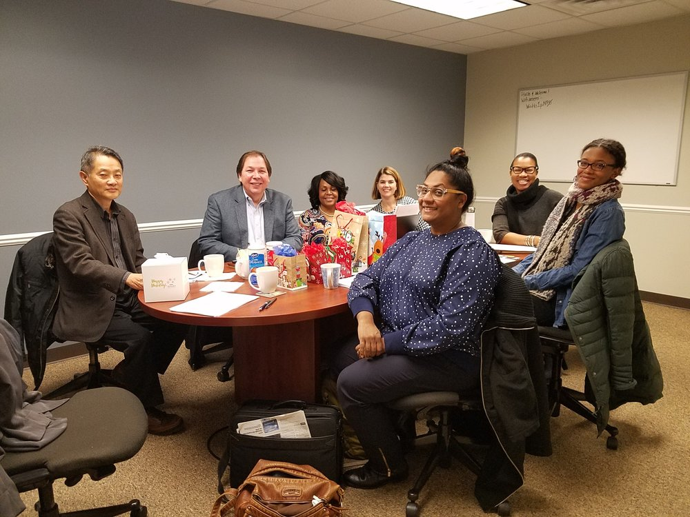 Core Partners and BECDD Staff at their final meeting of 2017