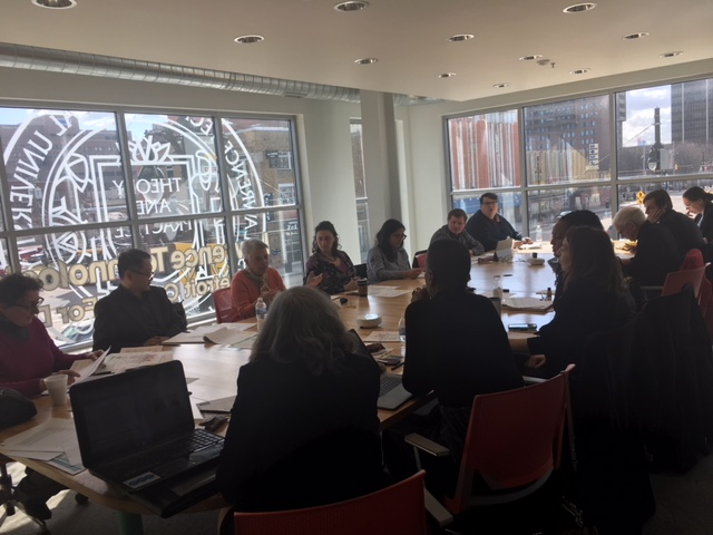 "Success Framework Task Force discussing the preliminary framework for a Detroit ""Neighborhood Vitality Progress"" Index on April 5, 2018."