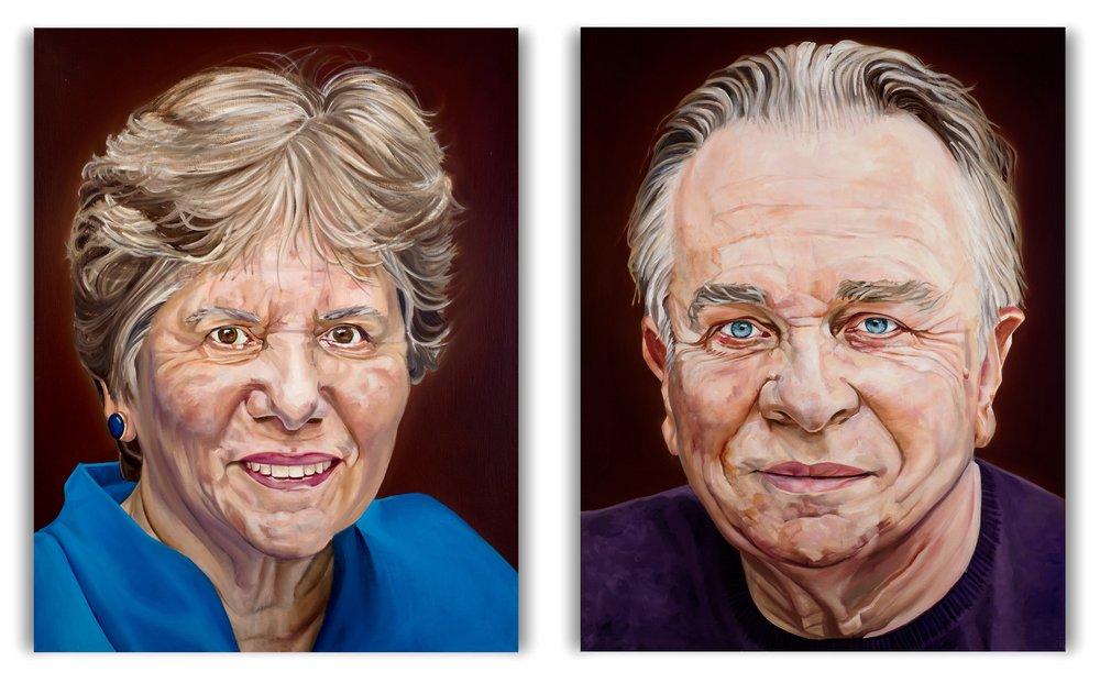 Sir Mark and Lady Elder  Oil on Linen  90 x 70cm