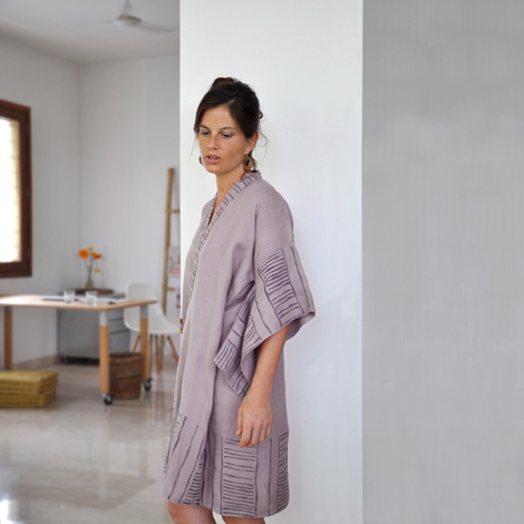linen bamboo robe from Common Texture