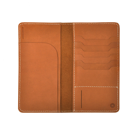 Handcrafted veg tan leather mens womens family travel wallet with a  practical design to keep passport 9d7c9c6549