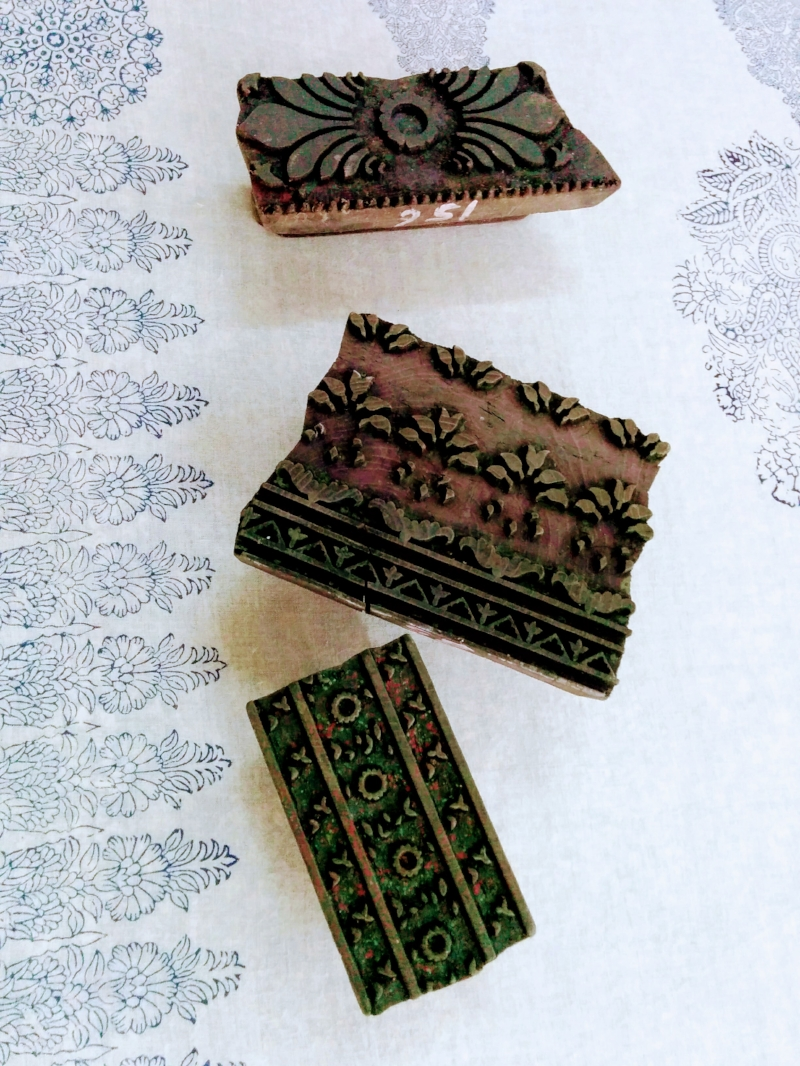 Traditional block print technique