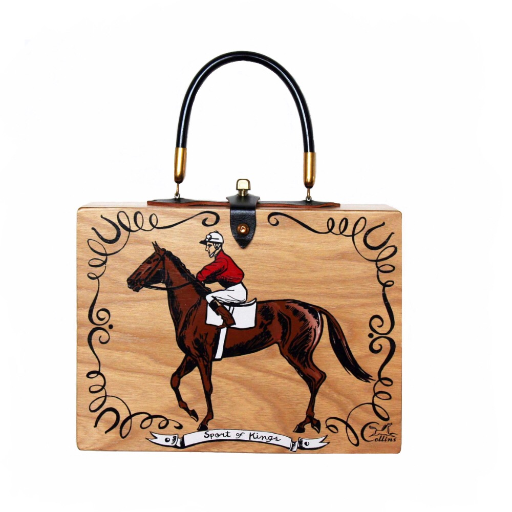 "Enid Collins of Texas ""Sport of Kings"" box bag   height - ""   width - ""   depth - """