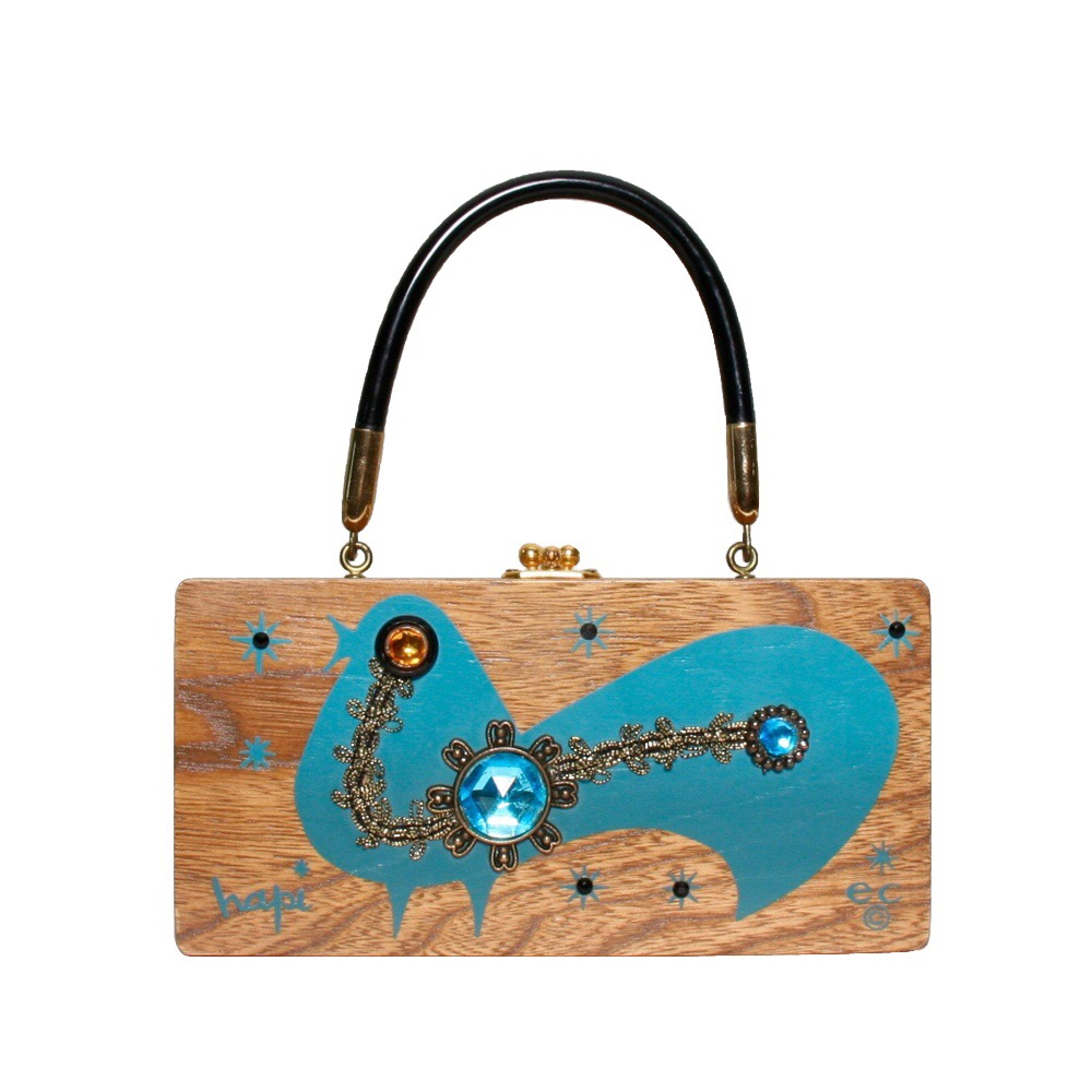 "Enid Collins of Texas ""hapi"" box bag   height -""    width - ""    depth - """