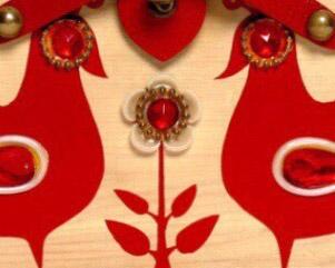 Gay Birds red 5743 by Enid Collins det2.jpg