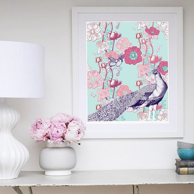 As the house gets a little colder and darker, this artwork brings a smile. My eternal spring. Get your copy of 'Peacock Awakening', there's only a small number in limited edition. Printed on lush, archival Hahnemuhle Bamboo paper. Check out the www.kbirdy.com website.