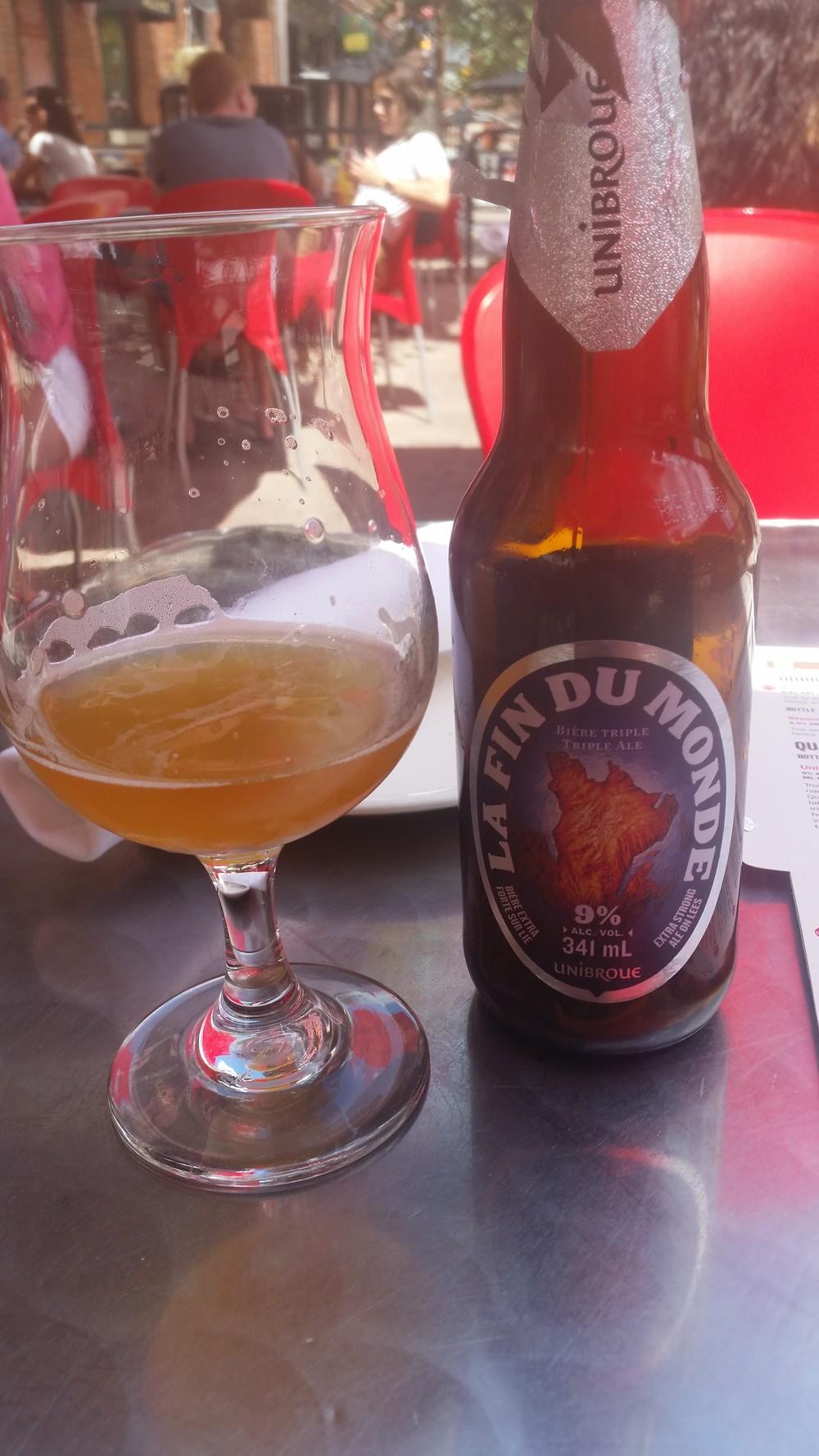 La Fin du Monde (dünyanın sonu) %9 ABV bir strong Ale. İsmi de çok orijinal, 2-3 tane içerseniz hayatınız film şeridi gibi geçebilir.