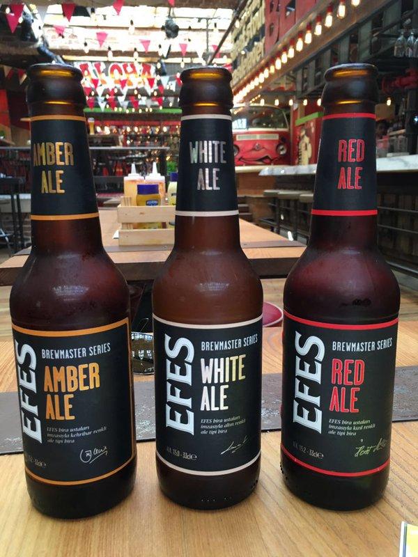 Efes'ten bir yenilik: White Ale, Amber Ale ve Red Ale