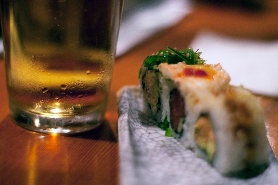 Sushi and beer pairing