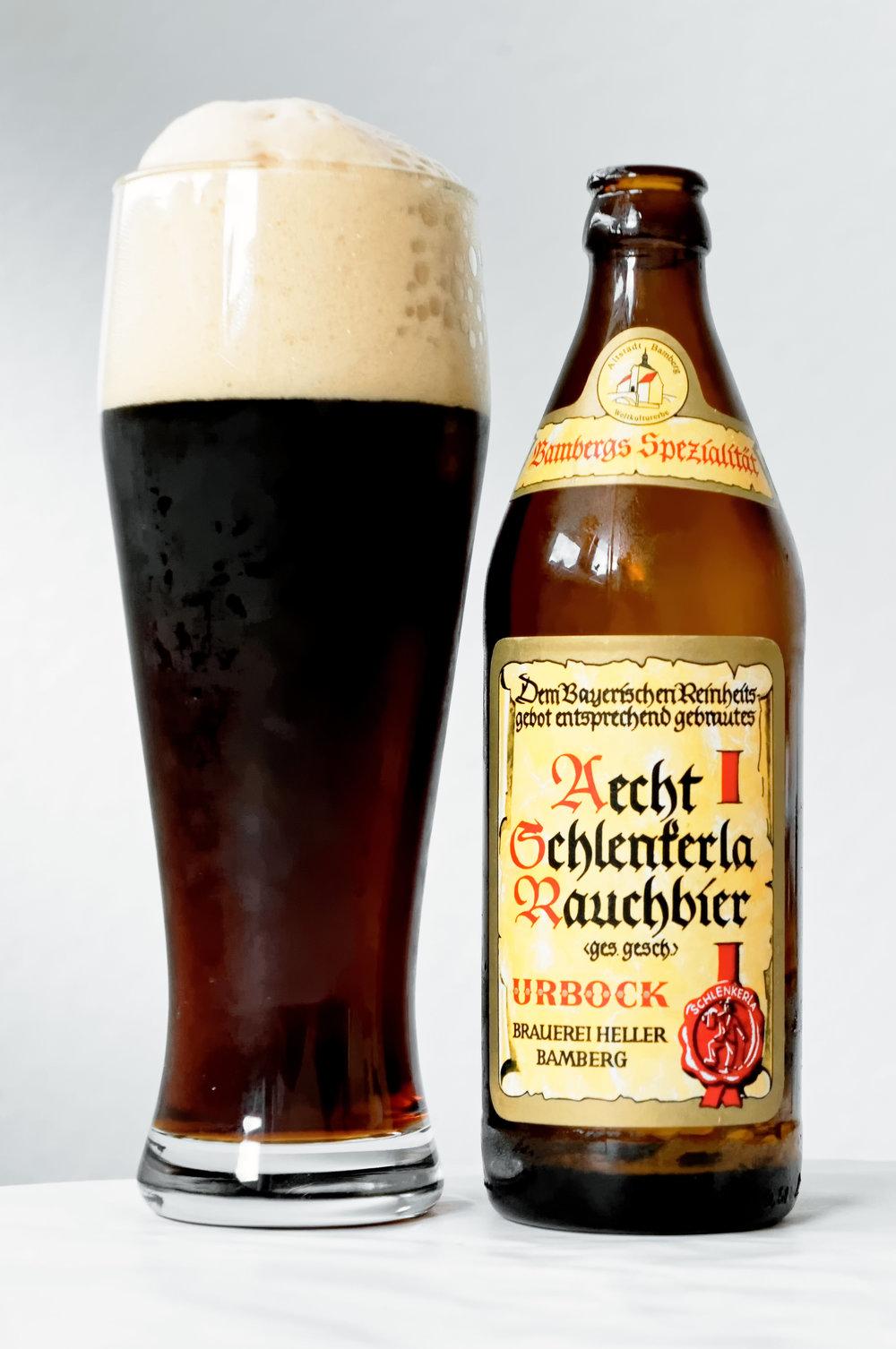 Schlenkerla Urbock; daha yüksek alkollü isli bira
