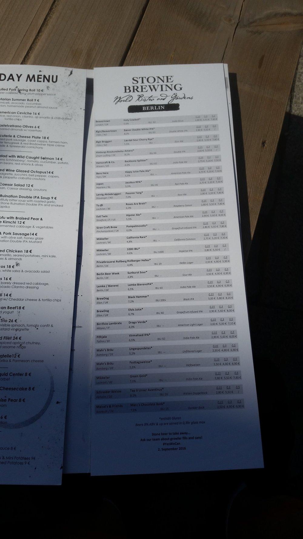 """""""Misafir"""" biraların listesi"""
