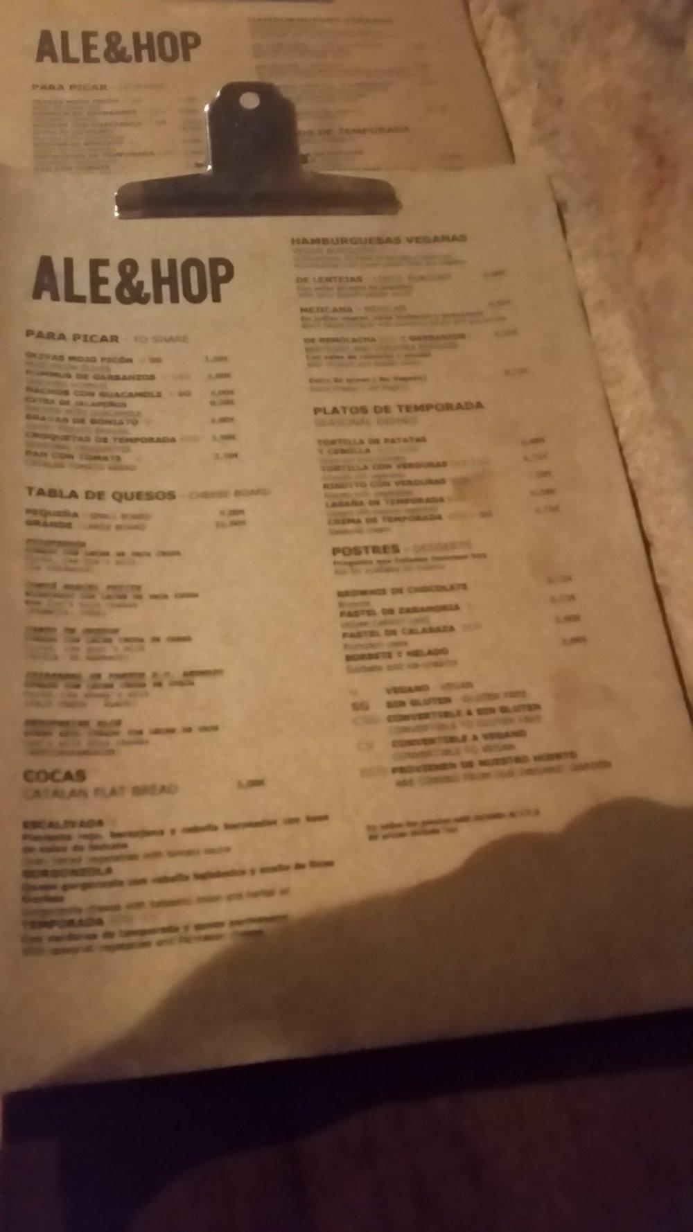 ale&hop-barcelona-menu