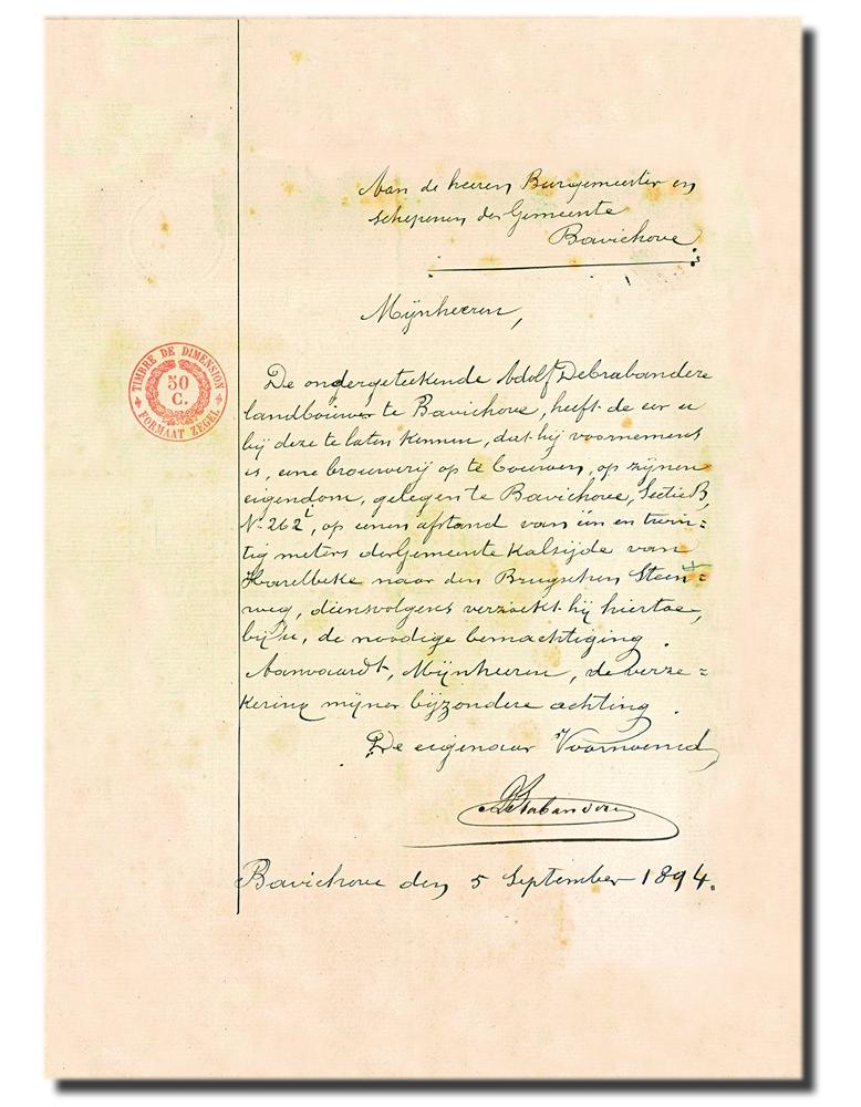 Başvuru belgesinin orijinali: 1894