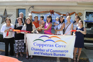 Copperas Cove Ghamber of Commerce Ribbon Cutting Ceremony for Just Breathe: Yoga with Noelani