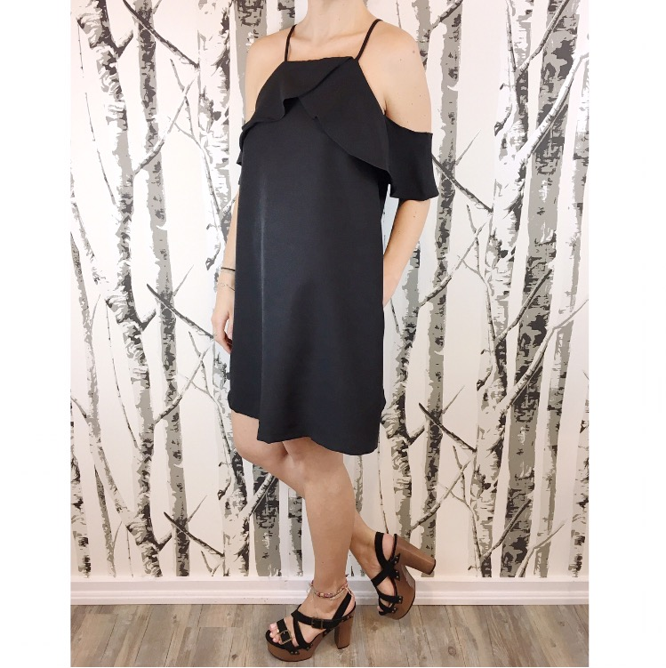 Cold-Shoulder Dress w/ Pockets available @ BTHB! Stylish and comfortable! Perfect for an upcoming graduation in spring, or a summer bachelorette party!