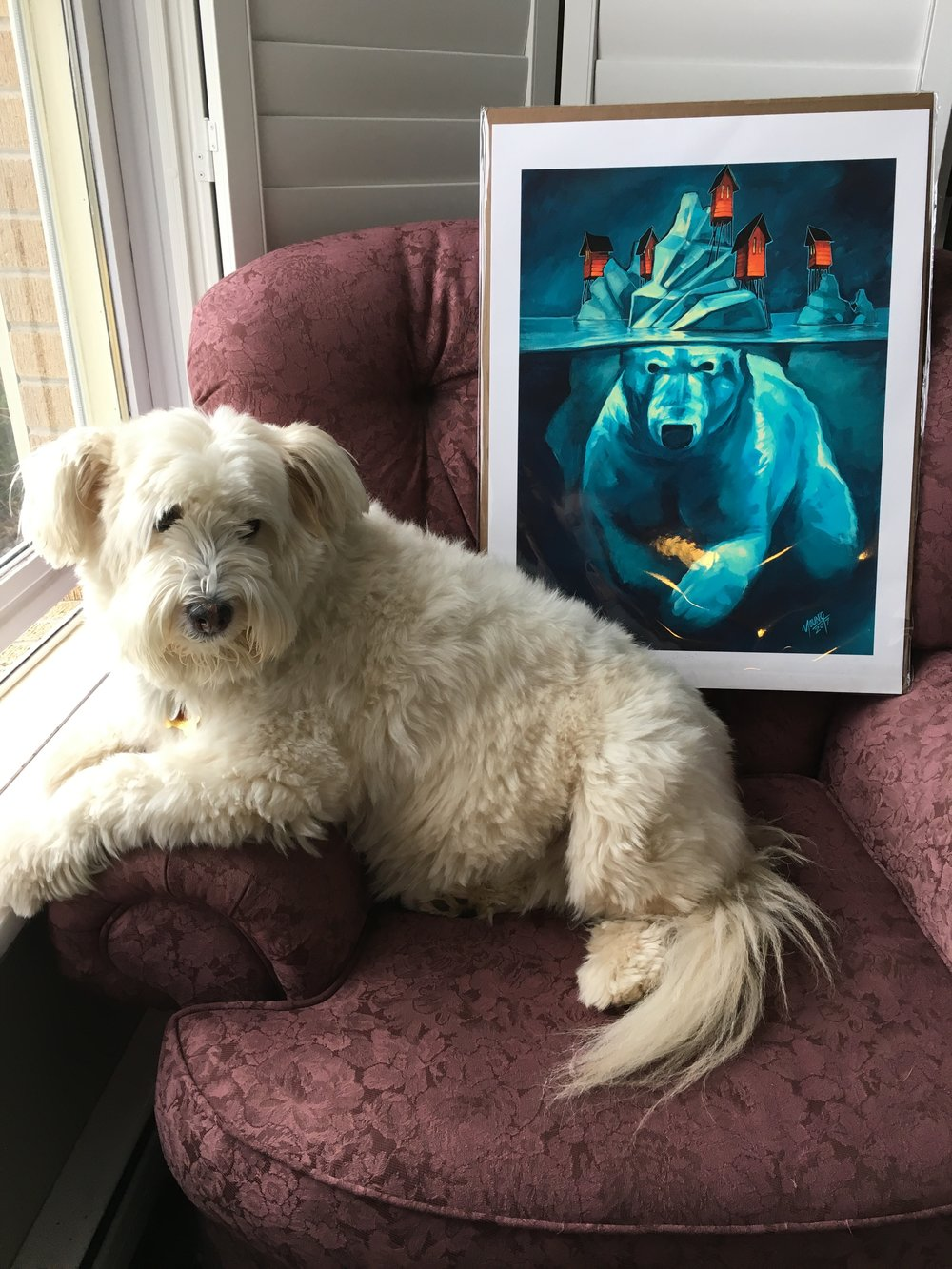 Heidi Bear surprised me with the 'Giants' print as my Fur Mom gift on Mothers Day!