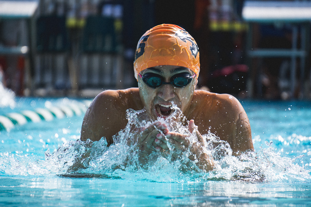 Wasco High Swimmer on Breaststroke