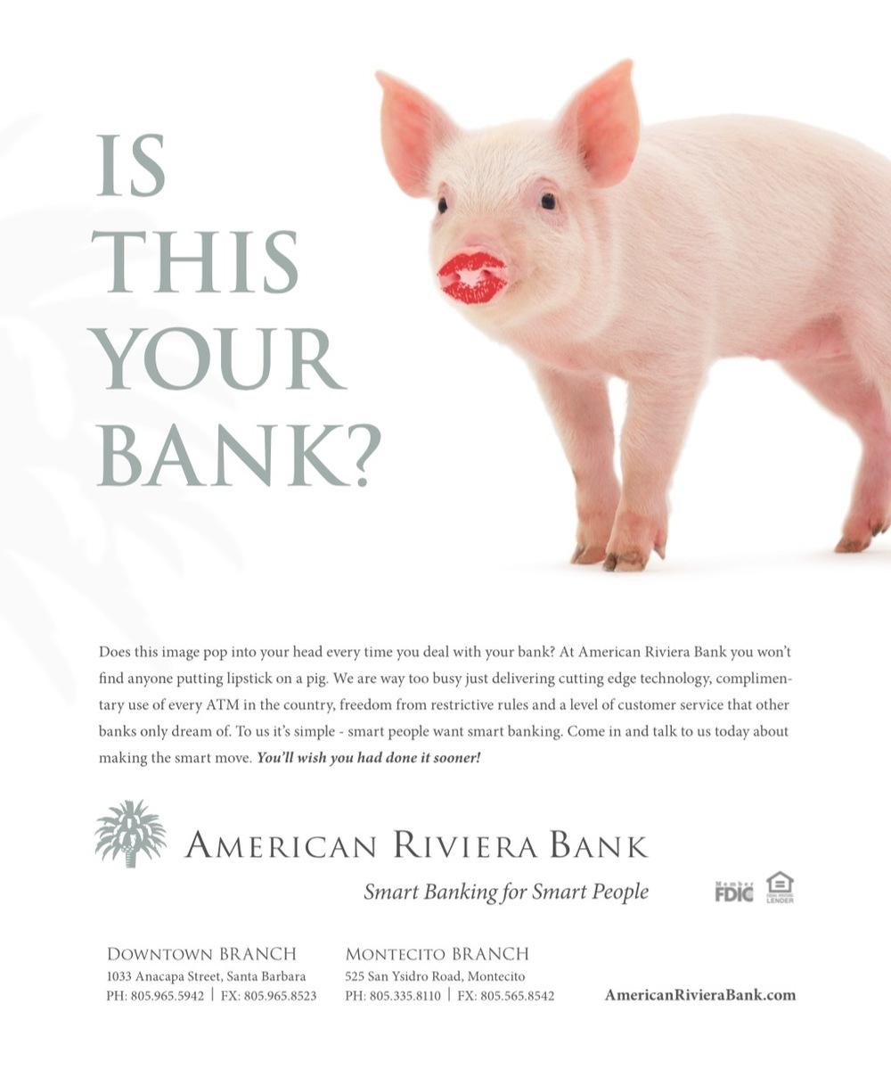 American Riviera Bank Print Ads