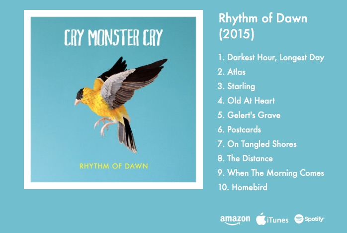 "The amazing Irish band ""Cry Monster Cry"",  provided several tracks for Kirsten Cavendish's film ""The Square of the Cube"" back in 2012, when they were virtually unknown.  Since then they have gone from strength to strength, touring all over Ireland and the UK, once again demonstrating Brainstorm's eye for new talent!  A tip o' the hat to Jay Donaghy, multitalented LA-based Producer, who worked with us to set up the soundtrack deal."