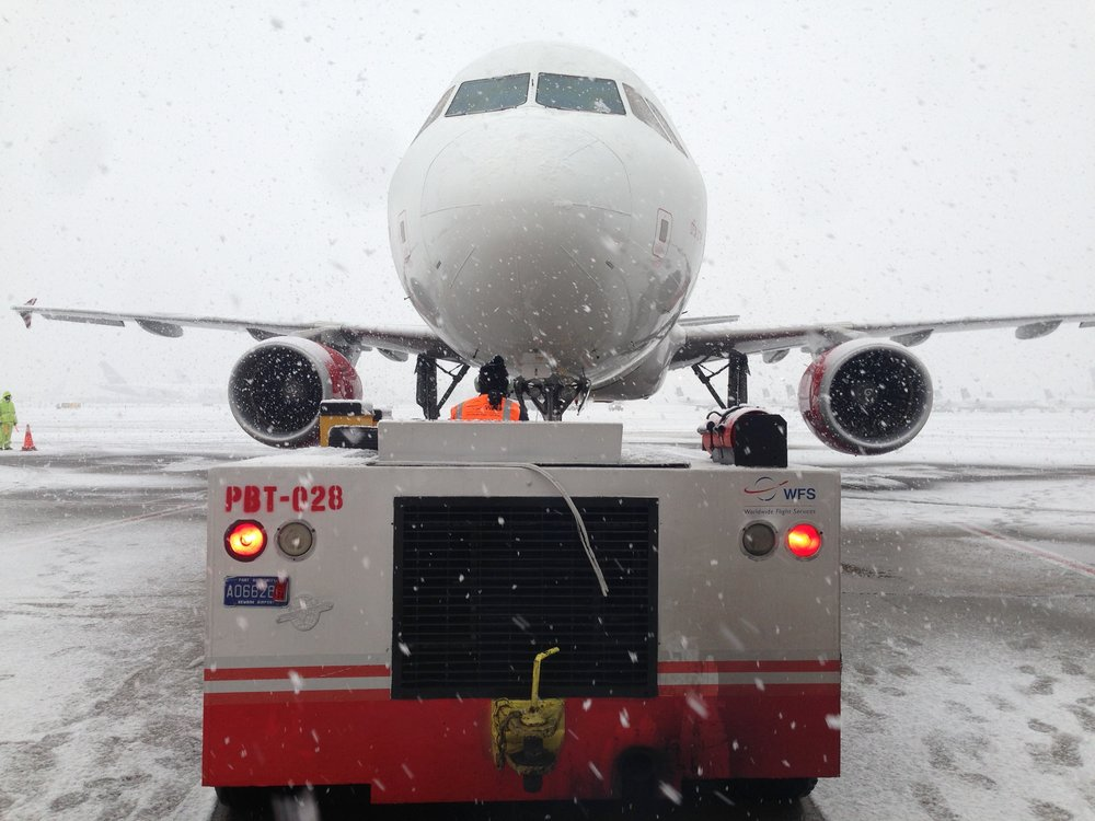 Shooting at Newark in a snowstorm.